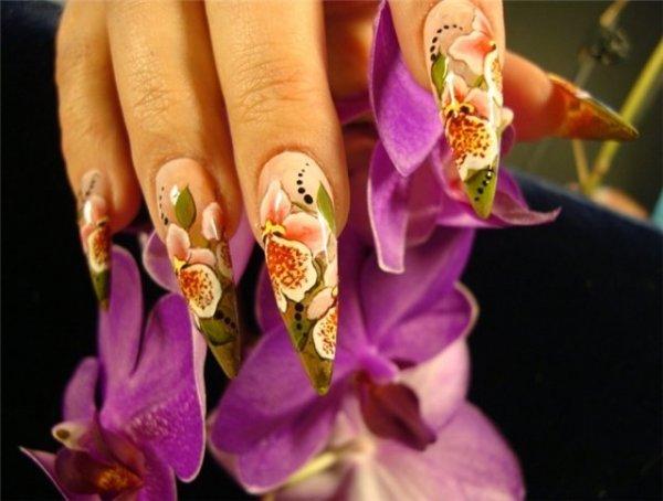 китайская роспись ногтей пошагово видео