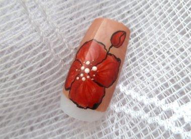 Дизайн «Красные цветы – маки»