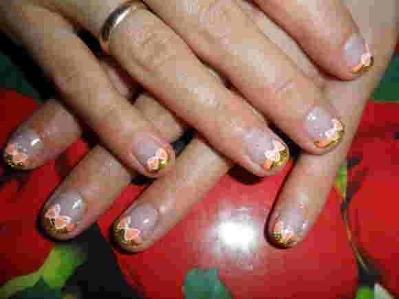 Маникюр бантики на ногтях